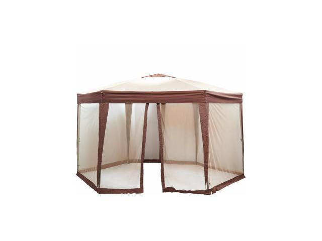 Hexagon Gazebo With Mosquito Netting EZ Pop Up Patio Tent