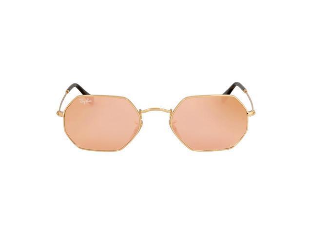 a9e235592e Ray Ban Octagonal Flat Lenses Metal Frame Sunglasses RB3556N ...