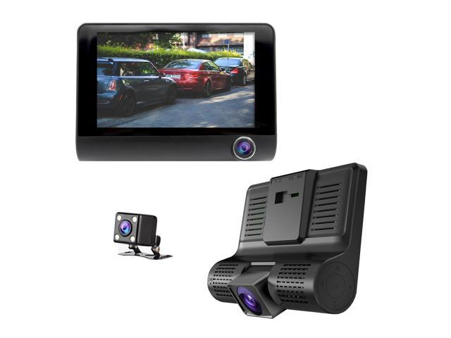 Master Tailgaters 3 Camera Windshield Mount DVR Dash Cam - Records Forward,  Cabin & Backup Cameras with 4 Inch IPS Screen - Perfect for Uber / Lyft /