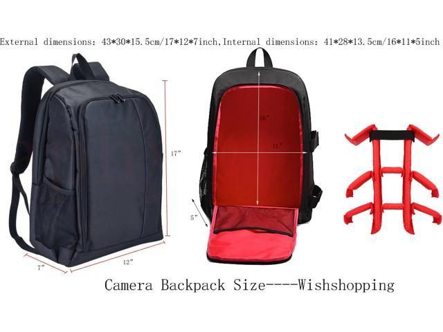 Large Capacity Side Access with 15.6 Inch Laptop Compartment for Women Men Photographer Lens Tripod Tablets Waterproof Camera Bag CHZHENG Camera Backpack