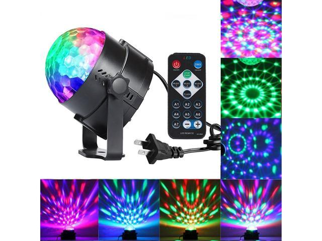 A Light Sound Activated Party Lights With Remote Control Dj Lighting Rbg Disco Ball Strobe Lamp 7 Modes Stage Par For Home Room Dance Parties