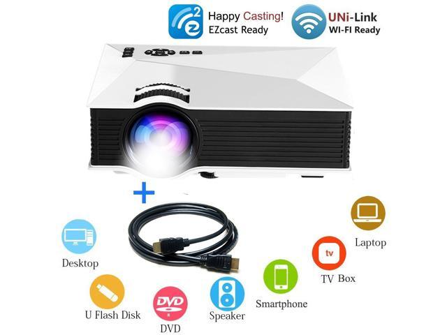 HD 1080P LCD Projector Supports HDMI PS3 WII XBOX TV VGA Home Cinema w//Controler