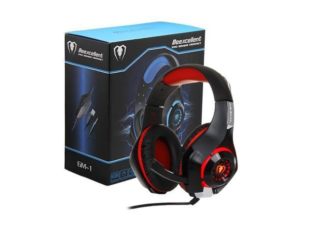 Beexcellent Gaming Headset with Mic for Xbox One PS4, Xbox One Headset, PS4  Headset, Over-Ear Gaming Headphones with Volume Control LED Light 3 5mm