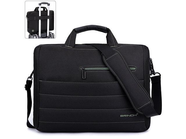 8f3b22c3c5d4 BRINCH 15.6 inch Laptop Bag, Travel Briefcase Large Shoulder Bag , Business  Messenger Bag with Shoulder Strap, Water Resistant Carrying Case for Men ...