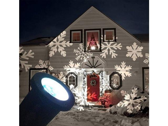 Christmas Projection Lights.Jieyuteks Christmas Lights Xmas Snowflake Decorations Outdoor Led Light Projector Waterproof Moving Projection Light Indoor Decor For Holiday Party