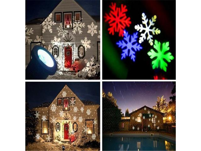 Christmas Projector.Christmas Projector Lights Adecorty Moving Colorful Snowflake Projector Lights Waterproof Snow Projector Light Led Landscape Lights For Christmas