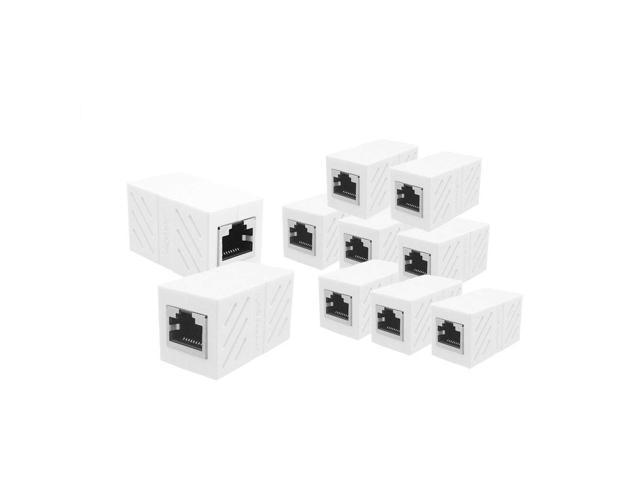 Luom 10 Pack Female To Female Network Lan Connector