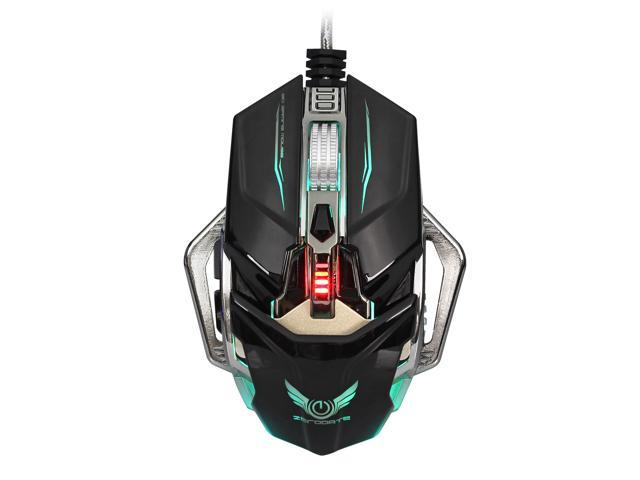 c7a6645210f ZERODAT H900 Gaming Mouse Wired, 8 Programmable Buttons, Chroma RGB Backlit,  4000 DPI