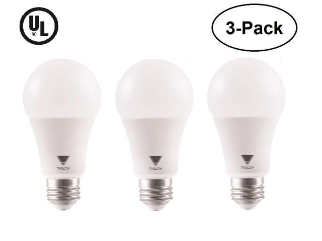 Triglow 3 Pack 15 Watt 100w Equivalent A19 Led Bulbs 3000k Soft White Color 1500 Lumens And E26 Base Ul Listed Of