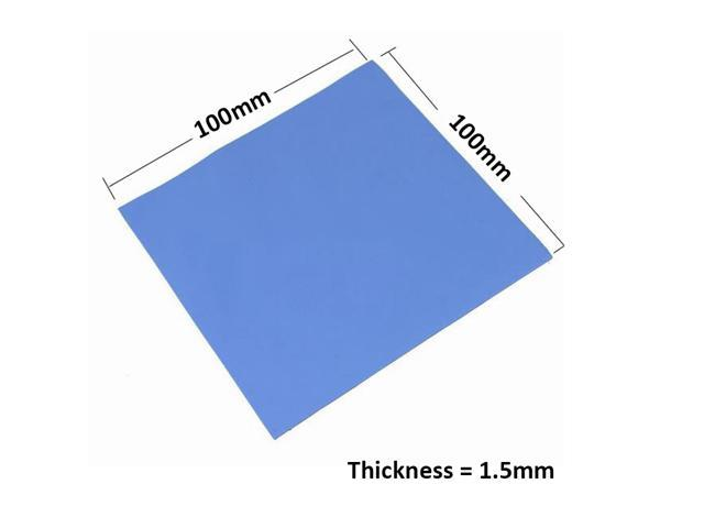 100mmx100mmx1.5mm GPU Northbridge IC LED Chipset Heatsink Cooling Conductive Silicone Thermal Pad,100x100x1.5mm w/ 3.2W/M-K