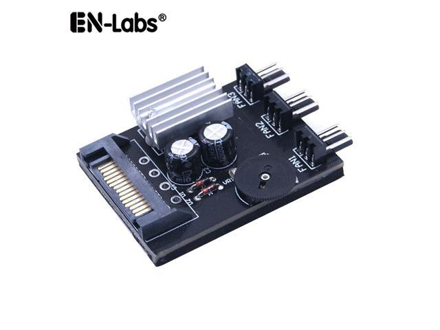 EnLabs TX3CO3S 3 Channel 3 pin 4 pin Computer CPU Cooler Case Fan Speed  Controller w/ Rubber Backed Tap for PC Case Internal & Mining Cooling
