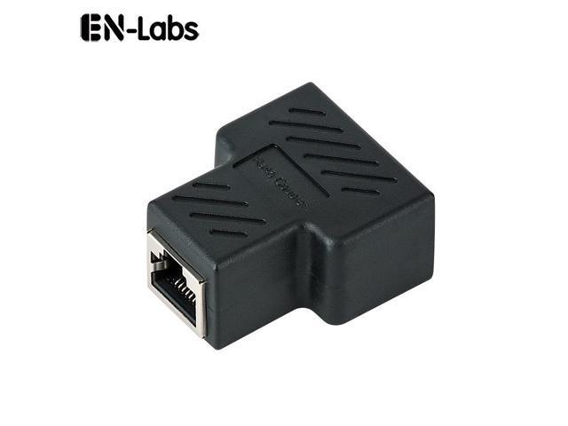 Black Cat7 Cat6 Cat5e LAN Ethernet Coupler with shielded RJ45 Splitter 8P8C