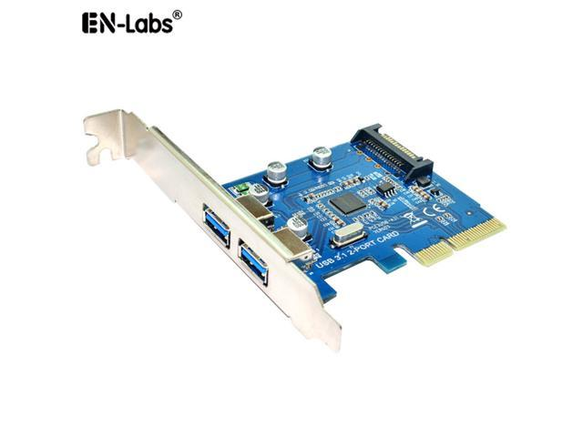 USB3110Gbps PCI E 4X Expansion Card Adapter EnLabs USB3