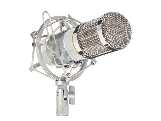 BM-800 Condenser Studio Recording Microphone with Shock Mount Holder - White