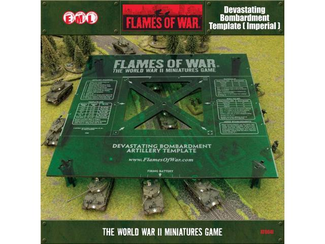 Flames Of War Green Devastating Bombardment Template Imperial