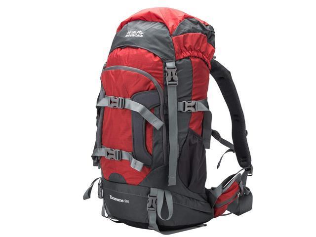 ROYAL MOUNTAIN 50L Hiking Backpack, Waterproof Outdoor ...