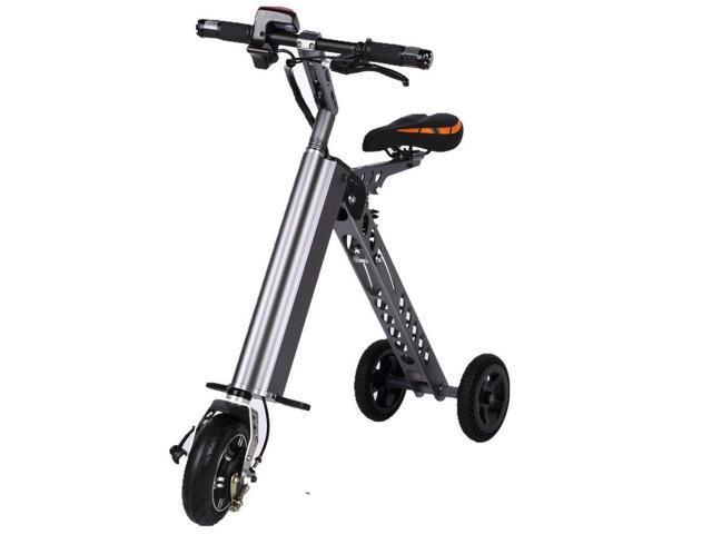 3 Wheel Folding Electric Bike Aircraft Aluminum Alloy Foldable Bicycle 25 Lbs Ultra