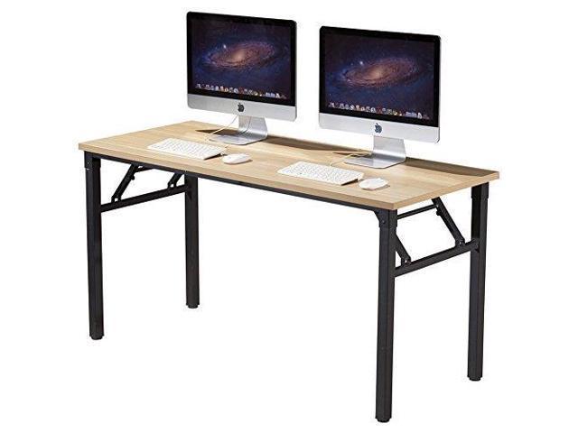 Surprising Cuboc 59 Large Size Modern Computer Desk Long Office Desk Writing Desk Workstation Table For Home Office Beech Newegg Com Home Interior And Landscaping Ferensignezvosmurscom