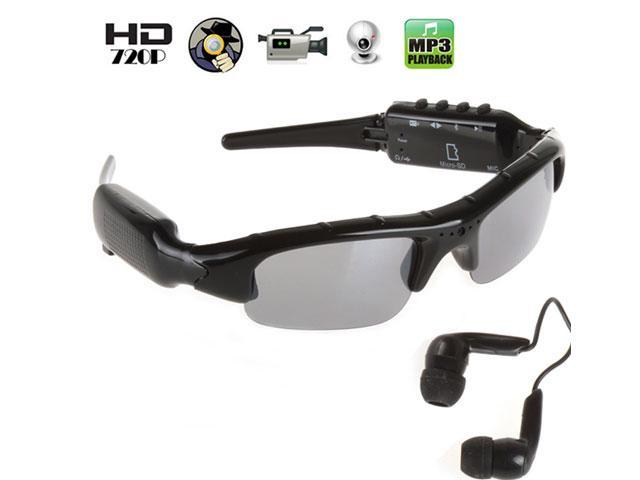 720P SunGlasses Spy Camera With MP3 Player and Bluetooth Earphone Glasses  Video Recorder Hidden Spy Cameras b459a6421b