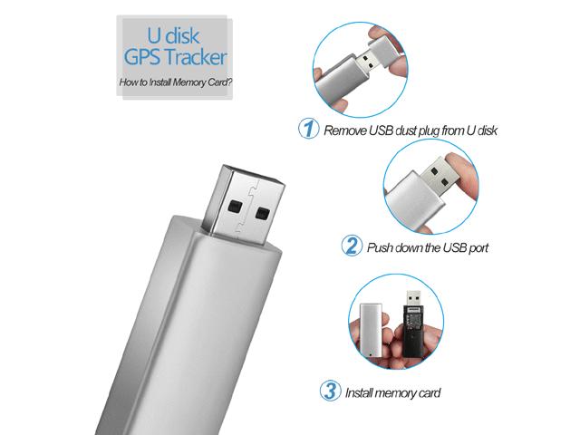 U Disk GPS Tracker, 2G/GSM, Voice Monitor, WIFI+GPS+LBS, Free APP&PC  Terminal,320mAh Battery Silver - Newegg com