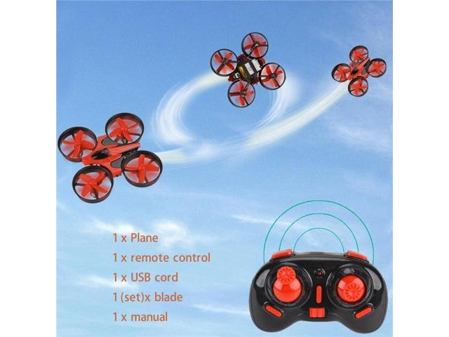 Vipwind Mini RC Quadcopter Drone 6 Axis Gyro Explorer UFO with Remote  Control (Color: Black & Red) - Newegg com