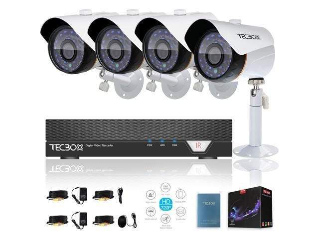 Tecbox 4 Channel Home Security Hdmi Ahd Video Recorder Dvr