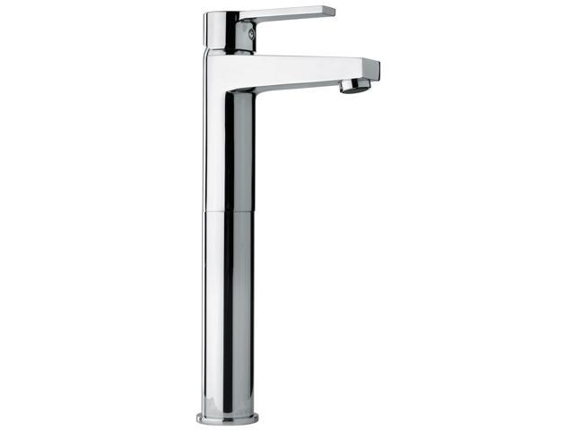 Tall Bathroom Vessel Sink Faucet Single Lever Waterfall: Jewel Faucet 14205 Chrome Single Lever Handle Tall Vessel