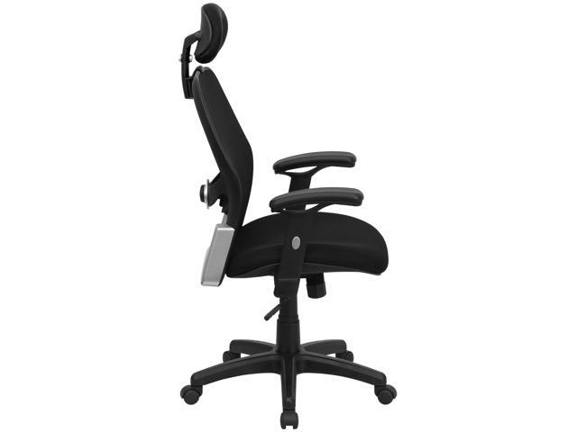 High Back Black Super Mesh Executive Swivel Chair With Adjustable Arms