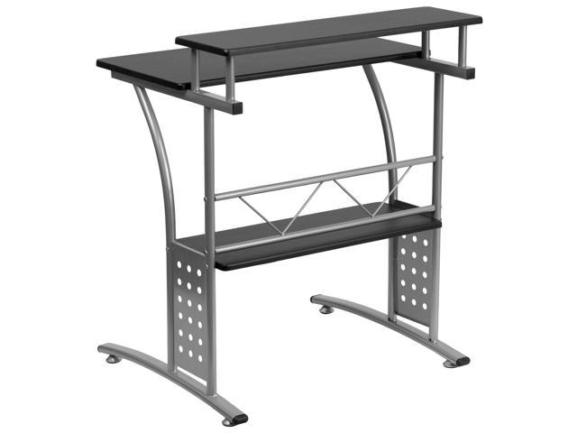 Flash Furniture Clifton Black Computer Desk   NAN CLIFTON BK GG