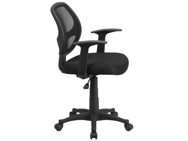 flash furniture mid back black mesh computer chair lf w 118a bk gg