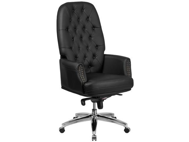 Fine High Back Traditional Tufted Black Leather Multifunction Executive Swivel Chair With Arms Newegg Com Download Free Architecture Designs Osuribritishbridgeorg