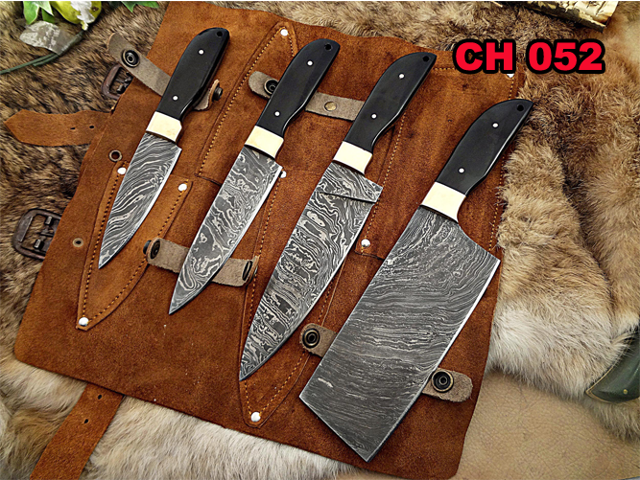 Remarkable 4 Pieces Chef Knives Set Slicer Chef Cleaver Overall 37 Creativecarmelina Interior Chair Design Creativecarmelinacom