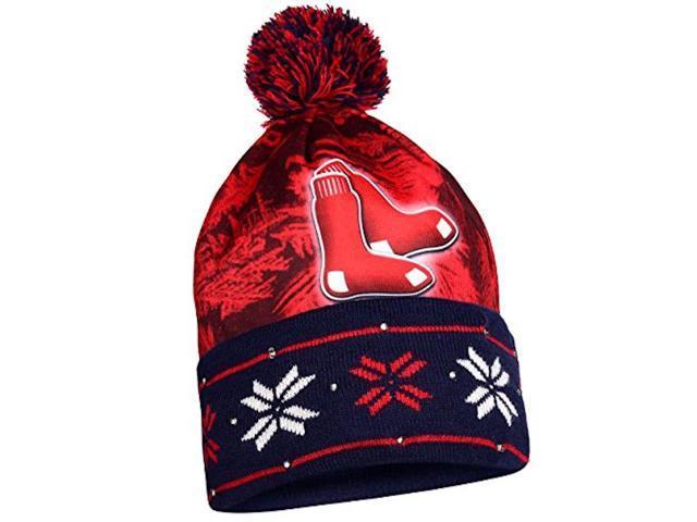 ac21abea9b0 MLB Boston Red Sox Light Up Knit Hat - Newegg.com