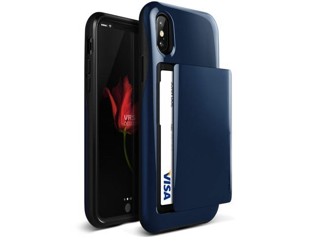 super popular ef04d efc34 VRS Design [Damda Glide] Wallet Card Holder Case for iPhone X - Deep Sea  Blue - Newegg.com