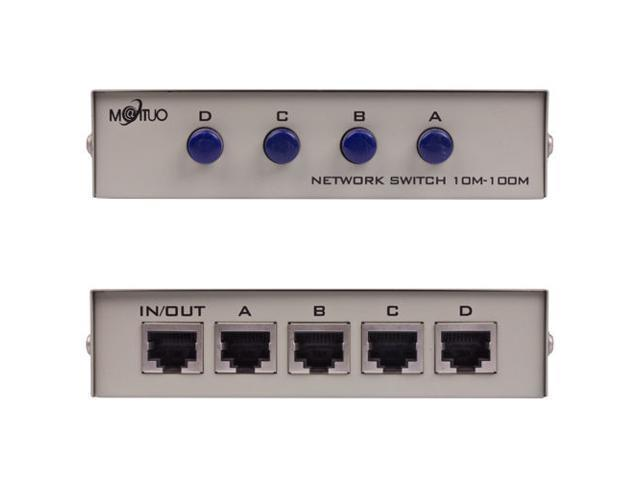 2-Port AB Manual Sharing Network Ethernet RJ45 Switch Selector Box Pretty