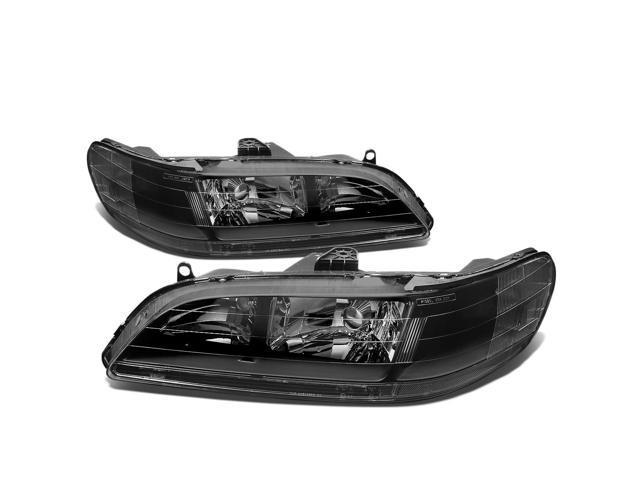 For 98 02 Honda Accord Oe Style Headlight Black Housing Clear Corner Headlamp 99 00