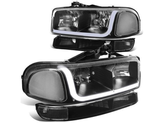 For 99 07 Gmc Sierra 1500 2500 3500 Yukon Led Drl Light Bar Headlight