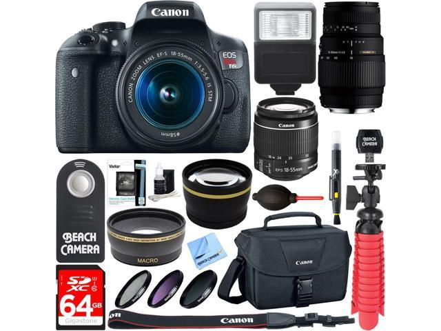 Canon EOS Rebel T6i DSLR Camera with EF-S 18-55mm IS STM & 70-300mm Lens Accessory Kit