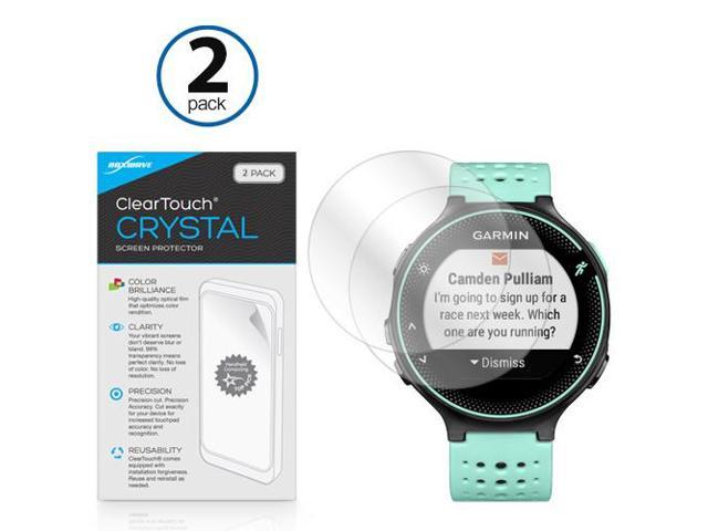 Garmin Forerunner 235 Screen Protector, BoxWave [ClearTouch Crystal  (2-Pack)] HD Film Skin - Shields From Scratches for Garmin Forerunner 235 -