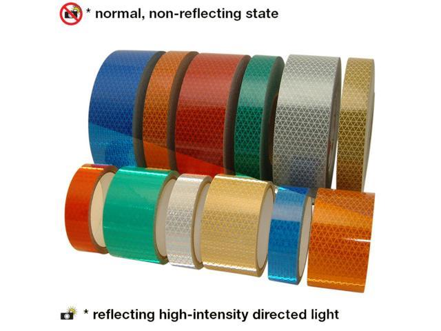 Oralite (Reflexite) V92-DB-COLORS Microprismatic Conspicuity Tape: 6 in  x  50 yds  (Silver-White) - Newegg com