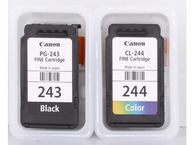 Canon 243244 Bulk Packaging Black And Color Ink Cartridges For MG2520 MG2920 MG2420