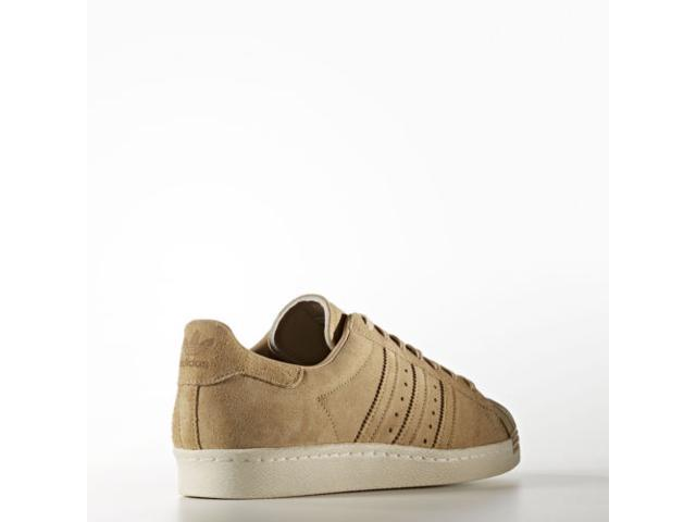 NEW ADIDAS ORIGINALS SUPERSTAR 80S SHOES BB2227 MEN'S SNEAKERS LINEN KHAKI [9.5]