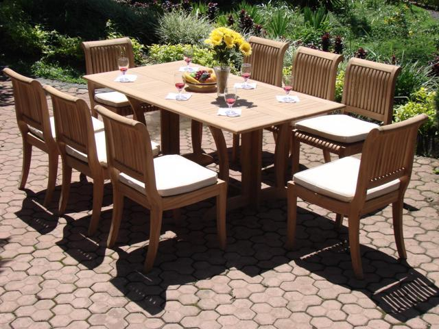 WholesaleTeak 9 Pc Luxurious Grade-A Teak Dining Set: 69