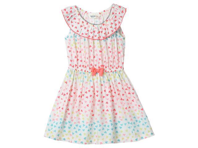 d3ca91d71 Beebay Girls 100% Viscose Neon Heart Print Dress (Multi-col ...
