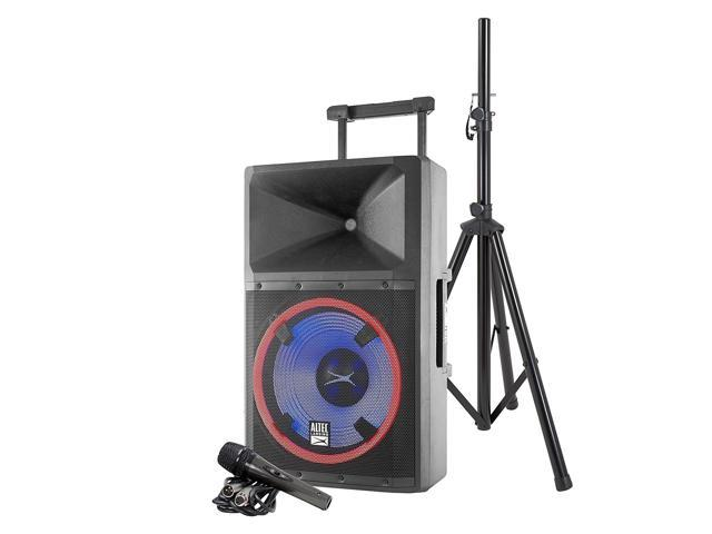 Altec Lansing ALP-L2200PK Lightning Series Indoor Outoor Ultra Powerful  Bluetooth 2200 Peak Watt Speaker with Party Lights and Built in Media  Player -