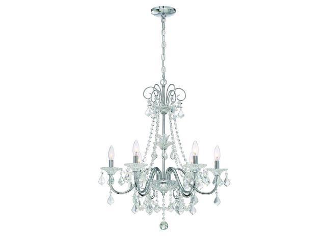 Canterbury Park Collection 29360 Hbu 6 Light Chrome Crystal Chandelier