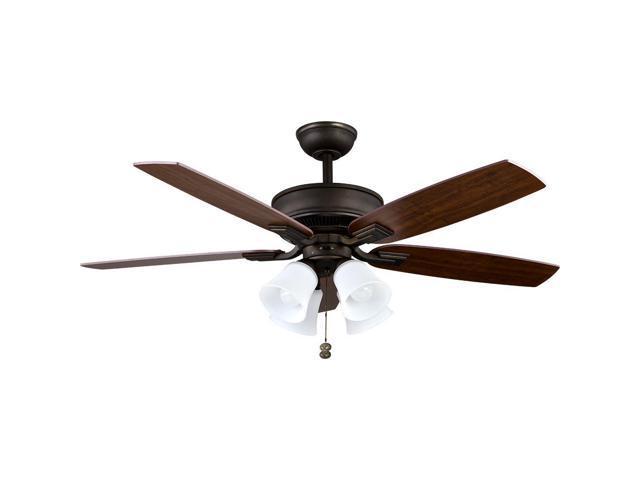 Hampton Bay 57231 Devron 52 Led Indoor Oil Rubbed Bronze Ceiling Fan W