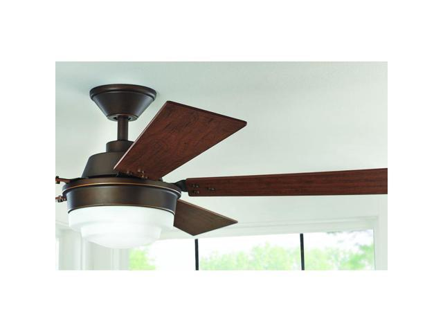 Home Decorators Collection 51611 Emswell 52 In Led Indoor Mediterranean Bronze Ceiling Fan With Light