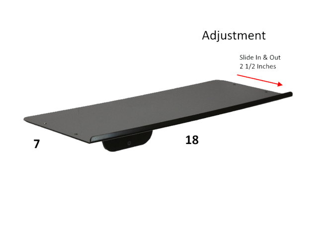 sds imount 1 0 wall mount keyboard tray 7x18. Black Bedroom Furniture Sets. Home Design Ideas