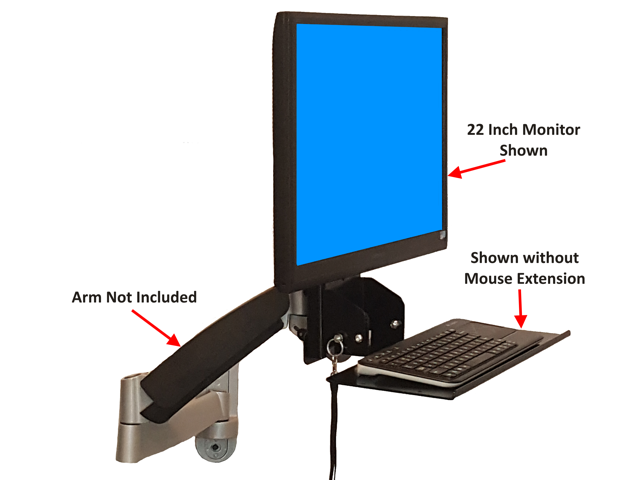 SDS IMount 4.0 Keyboard U0026 Monitor Mount W/ Tilt, Fold Away Adjustable Tray  System
